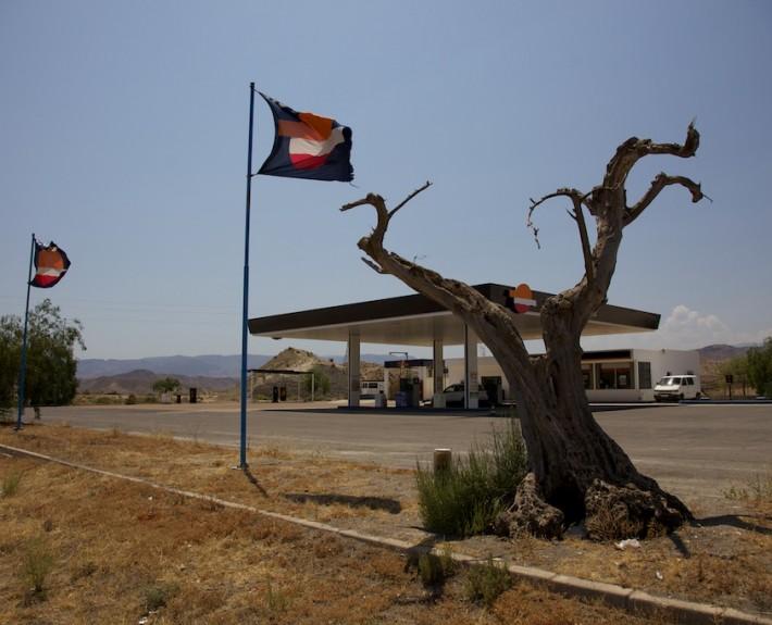 Spanien 2013 Tankstelle bei Tabernas