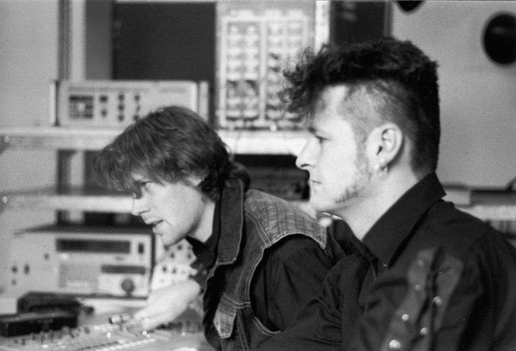Lohrmann und Fischer in der Uni 1994